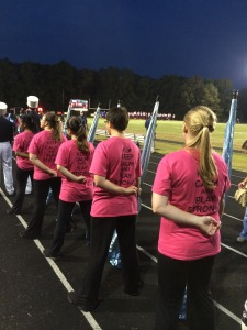 pink out colorguard